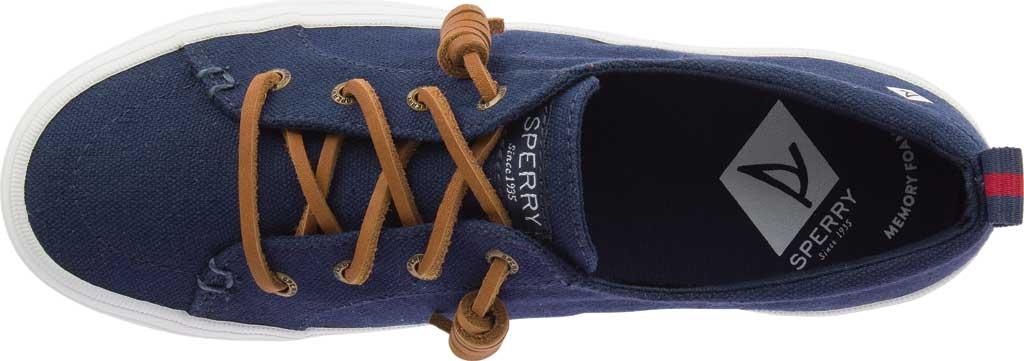 Women's Sperry Top-Sider Crest Vibe Triple Platform Sneaker, Navy Canvas, large, image 5