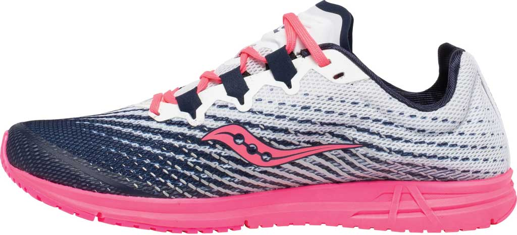 Women's Saucony Type A9 Running Sneaker, White/Pink, large, image 3