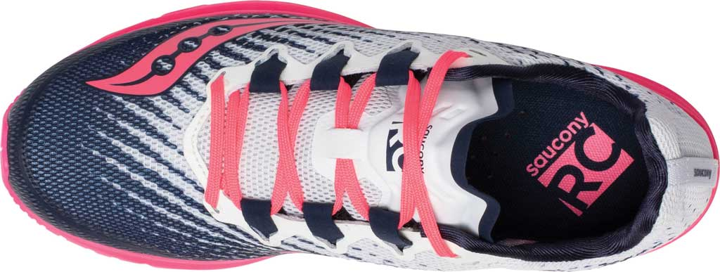Women's Saucony Type A9 Running Sneaker, White/Pink, large, image 4
