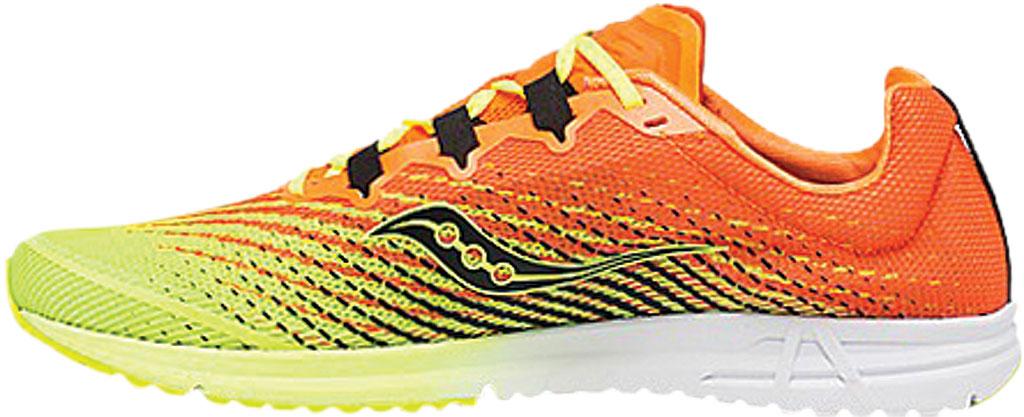 Men's Saucony Type A9 Running Sneaker, Citron/Orange Engineered Mesh, large, image 3