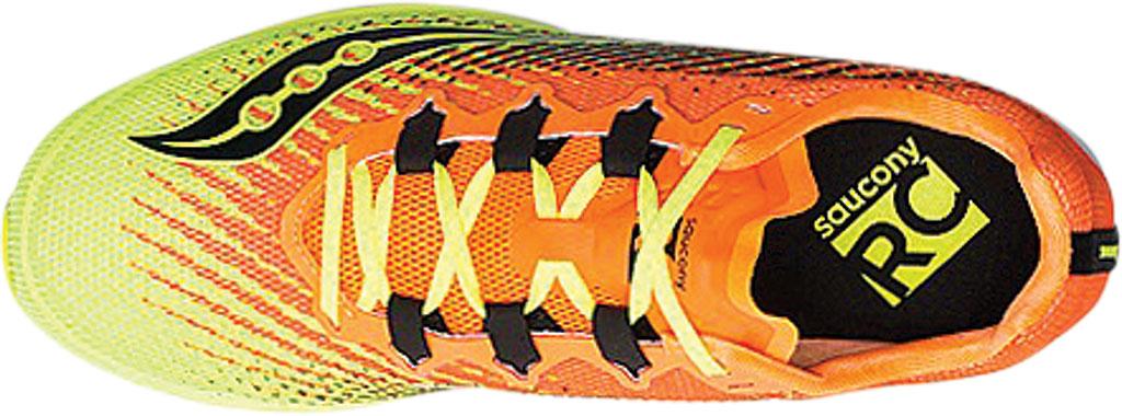 Men's Saucony Type A9 Running Sneaker, Citron/Orange Engineered Mesh, large, image 4
