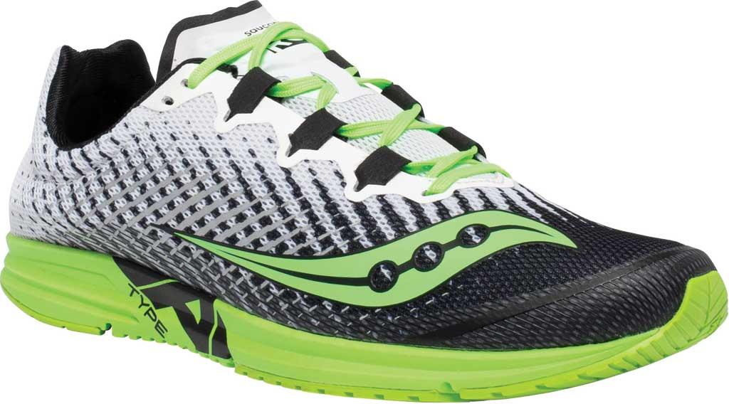 Men's Saucony Type A9 Running Sneaker, White/Slime, large, image 1