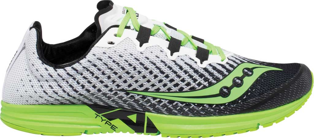 Men's Saucony Type A9 Running Sneaker, White/Slime, large, image 2
