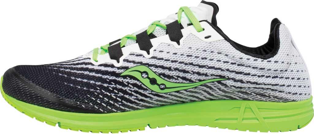 Men's Saucony Type A9 Running Sneaker, White/Slime, large, image 3