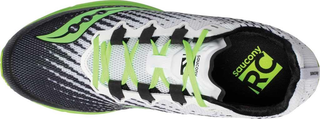 Men's Saucony Type A9 Running Sneaker, White/Slime, large, image 4