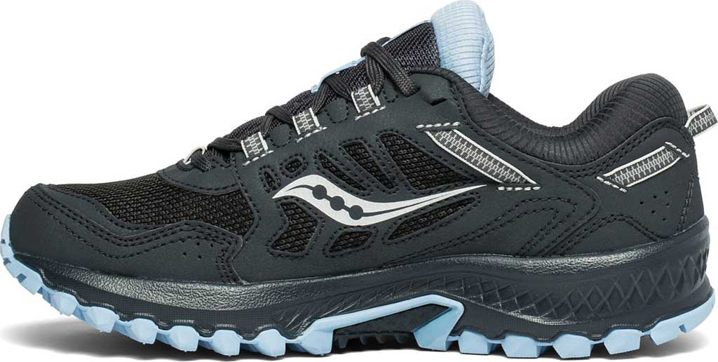 Women's Saucony Versafoam Excursion TR13 GTX Running Sneaker, Black/Blue Trail Specific Mesh, large, image 3