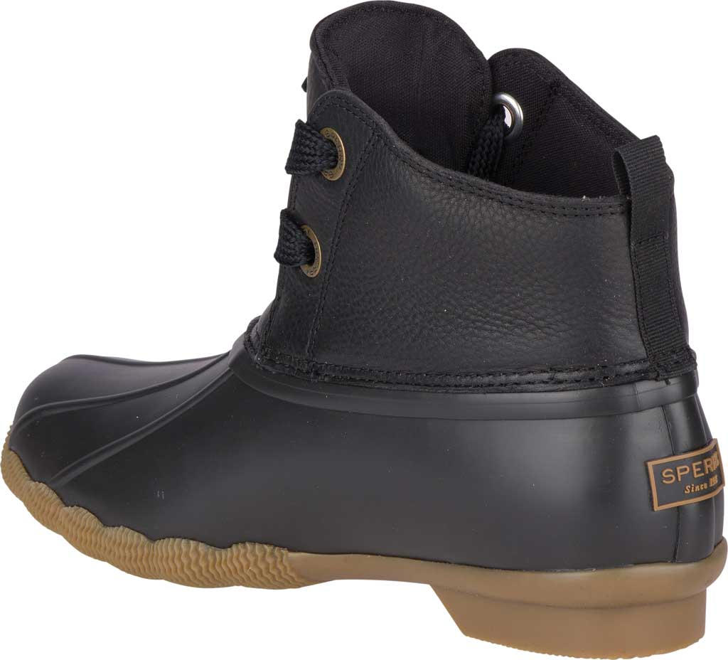 Women's Sperry Top-Sider Saltwater 2-Eye Duck Boot, Black Leather/Pearlized Rubber, large, image 4