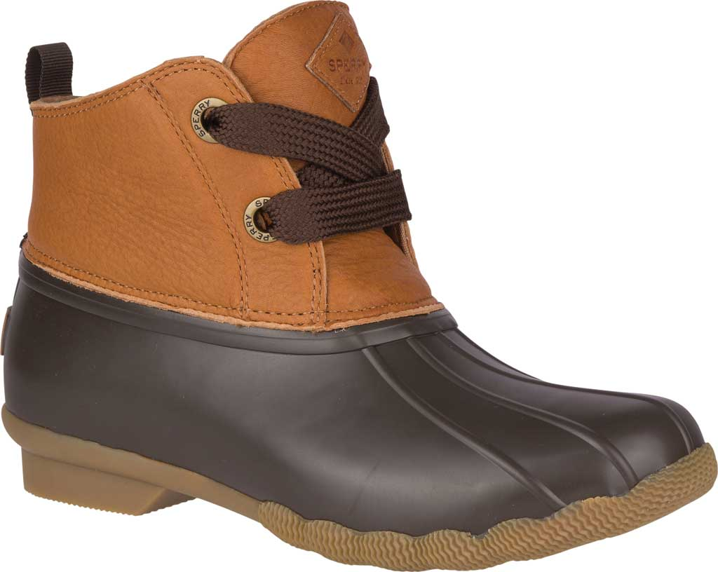 Women's Sperry Top-Sider Saltwater 2-Eye Duck Boot, Tan/Brown Leather/Pearlized Rubber, large, image 1