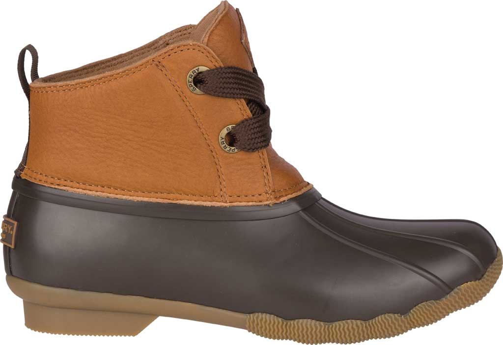Women's Sperry Top-Sider Saltwater 2-Eye Duck Boot, Tan/Brown Leather/Pearlized Rubber, large, image 2