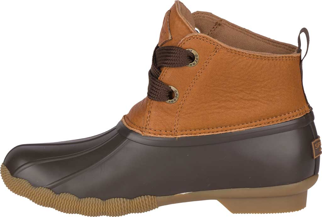 Women's Sperry Top-Sider Saltwater 2-Eye Duck Boot, Tan/Brown Leather/Pearlized Rubber, large, image 3