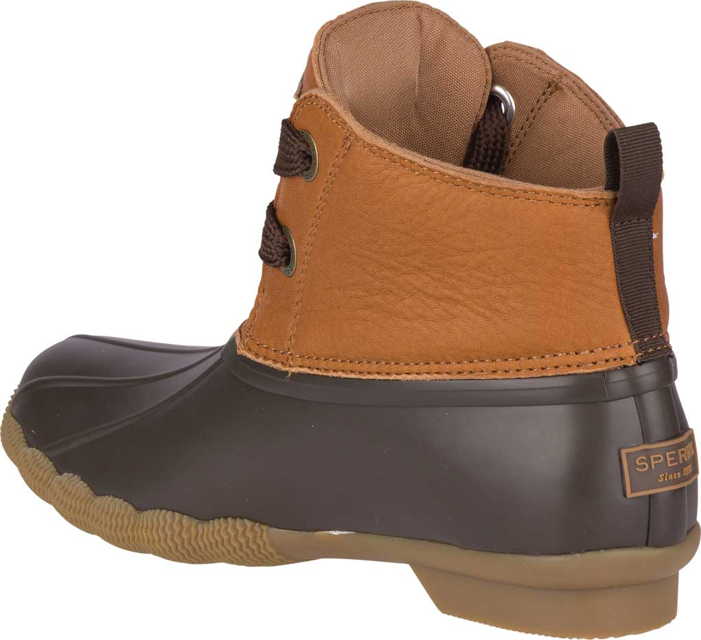 Women's Sperry Top-Sider Saltwater 2-Eye Duck Boot, Tan/Brown Leather/Pearlized Rubber, large, image 4
