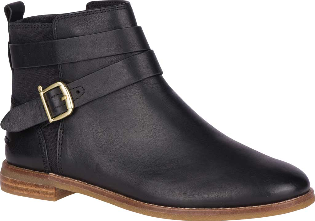 Women's Sperry Top-Sider Seaport Shackle Ankle Bootie, Black Premium Leather, large, image 1