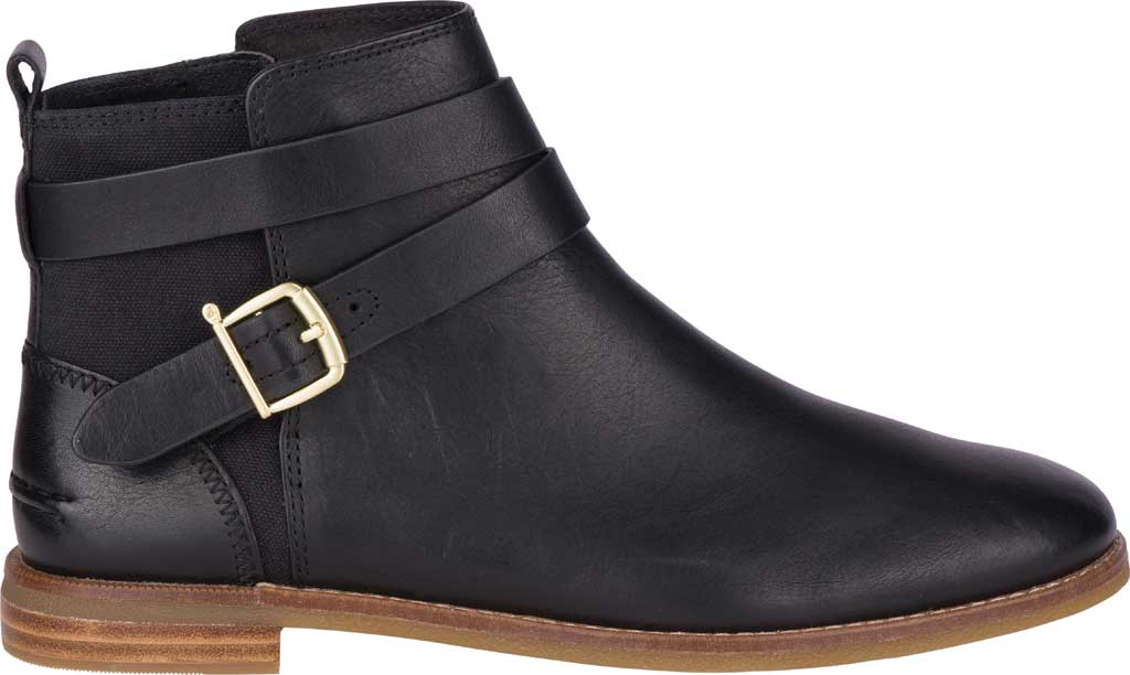 Women's Sperry Top-Sider Seaport Shackle Ankle Bootie, Black Premium Leather, large, image 2