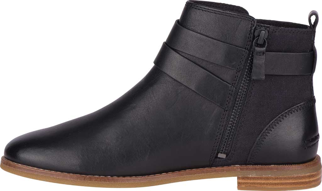 Women's Sperry Top-Sider Seaport Shackle Ankle Bootie, Black Premium Leather, large, image 3
