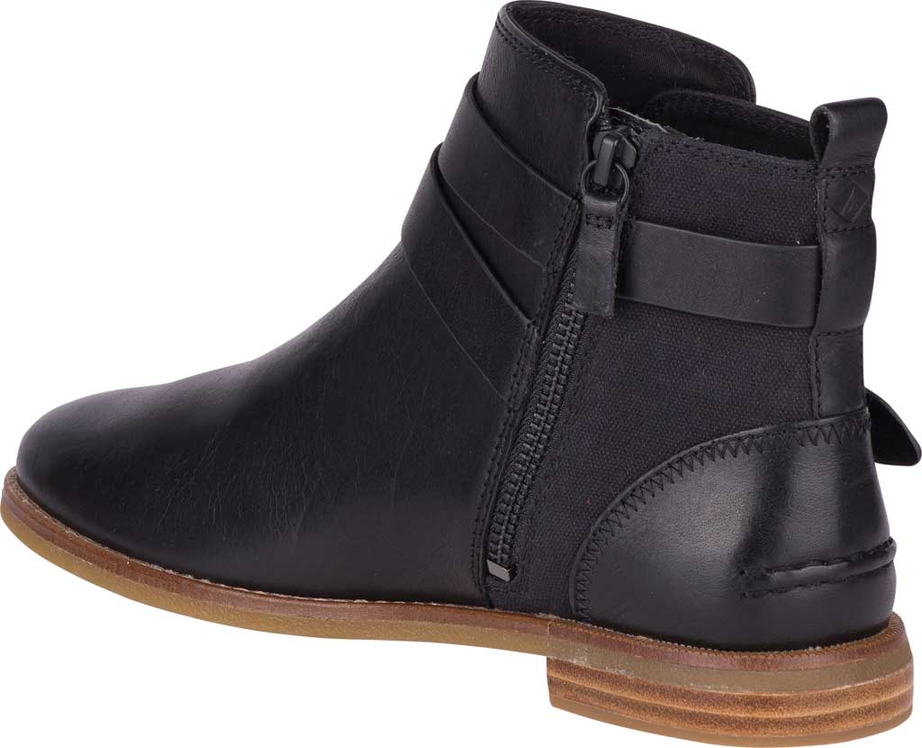 Women's Sperry Top-Sider Seaport Shackle Ankle Bootie, Black Premium Leather, large, image 4