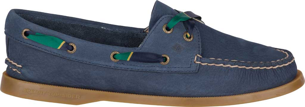 Women's Sperry Top-Sider Authentic Original 2-Eye Varsity Boat Shoe, Navy Leather, large, image 2