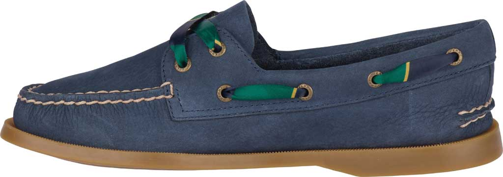 Women's Sperry Top-Sider Authentic Original 2-Eye Varsity Boat Shoe, Navy Leather, large, image 3