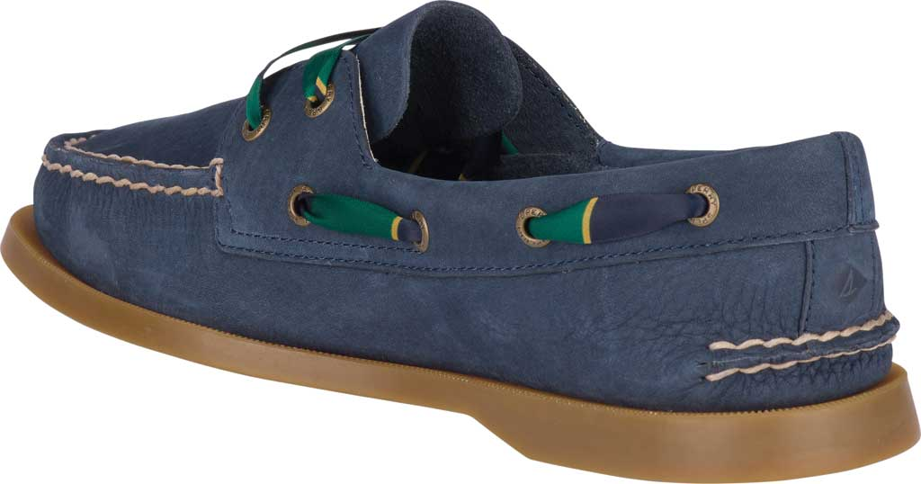 Women's Sperry Top-Sider Authentic Original 2-Eye Varsity Boat Shoe, Navy Leather, large, image 4