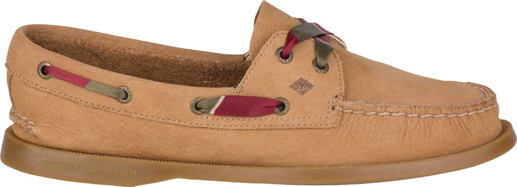 Women's Sperry Top-Sider Authentic Original 2-Eye Varsity Boat Shoe, Tan Leather, large, image 2