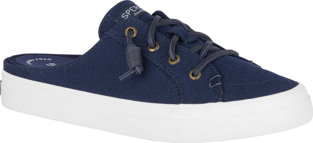 Women's Sperry Top-Sider Crest Vibe Sneaker Mule, Navy Canvas, large, image 1