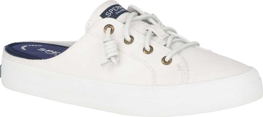 Women's Sperry Top-Sider Crest Vibe Sneaker Mule, White Canvas, large, image 1