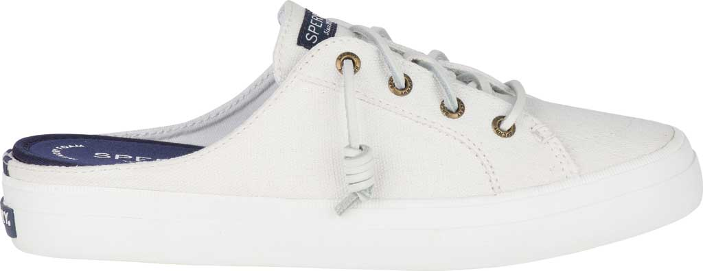 Women's Sperry Top-Sider Crest Vibe Sneaker Mule, White Canvas, large, image 2
