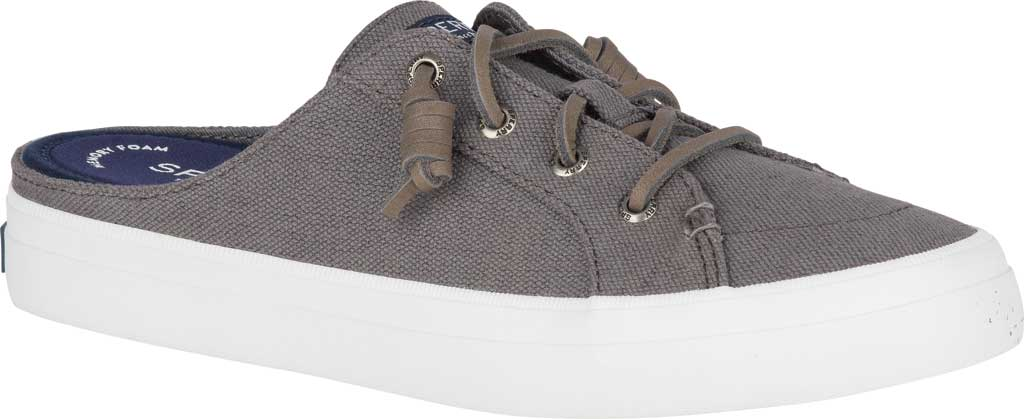 Women's Sperry Top-Sider Crest Vibe Sneaker Mule, Grey Canvas, large, image 1