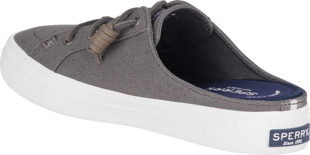 Women's Sperry Top-Sider Crest Vibe Sneaker Mule, Grey Canvas, large, image 4