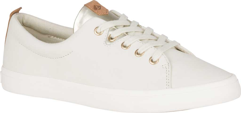 Women's Sperry Top-Sider Sailor Lace To Toe Sneaker, Ivory Leather, large, image 1