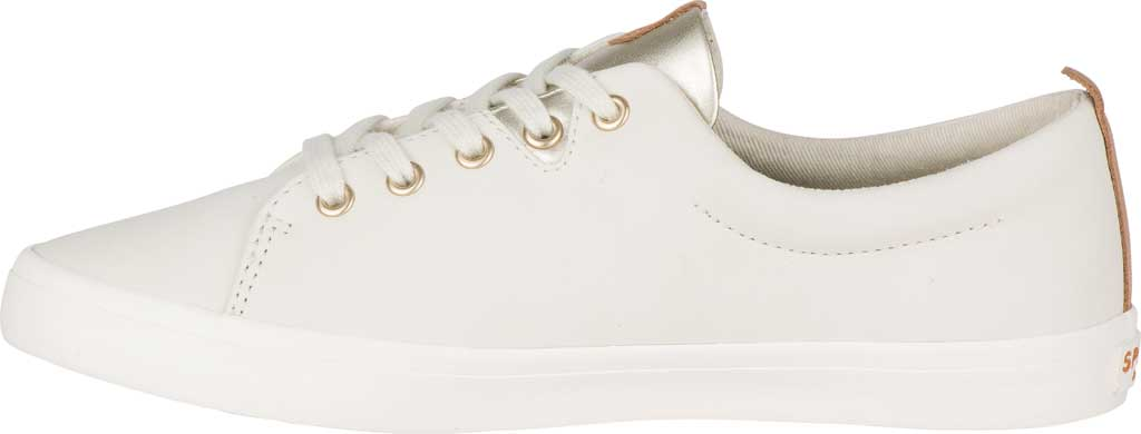 Women's Sperry Top-Sider Sailor Lace To Toe Sneaker, Ivory Leather, large, image 3