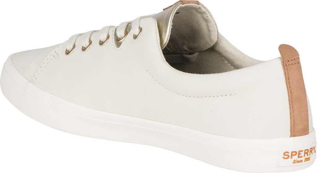 Women's Sperry Top-Sider Sailor Lace To Toe Sneaker, Ivory Leather, large, image 4