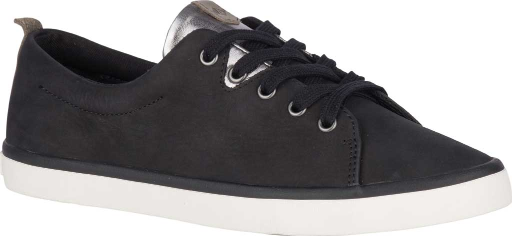 Women's Sperry Top-Sider Sailor Lace To Toe Sneaker, Black Leather, large, image 1
