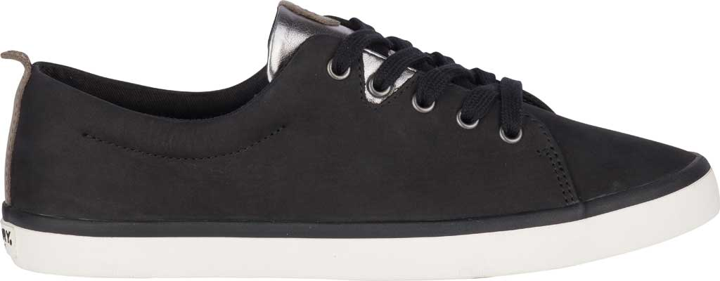 Women's Sperry Top-Sider Sailor Lace To Toe Sneaker, Black Leather, large, image 2