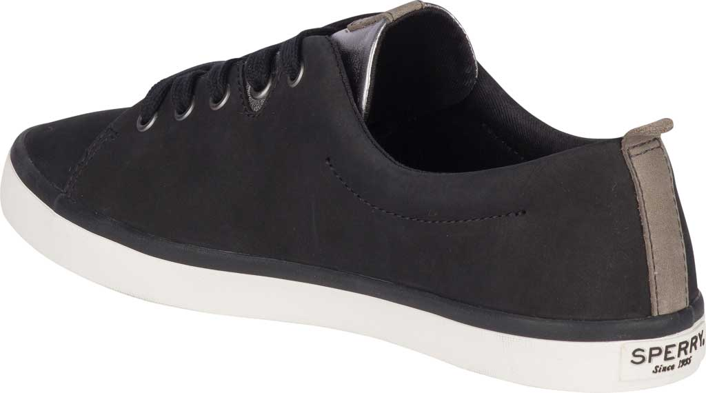 Women's Sperry Top-Sider Sailor Lace To Toe Sneaker, Black Leather, large, image 4