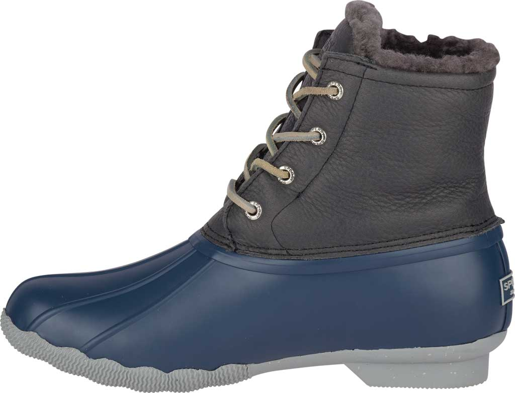 Women's Sperry Top-Sider Saltwater Winter Lux Boot, Grey/Navy Premium Leather/Rubber, large, image 3