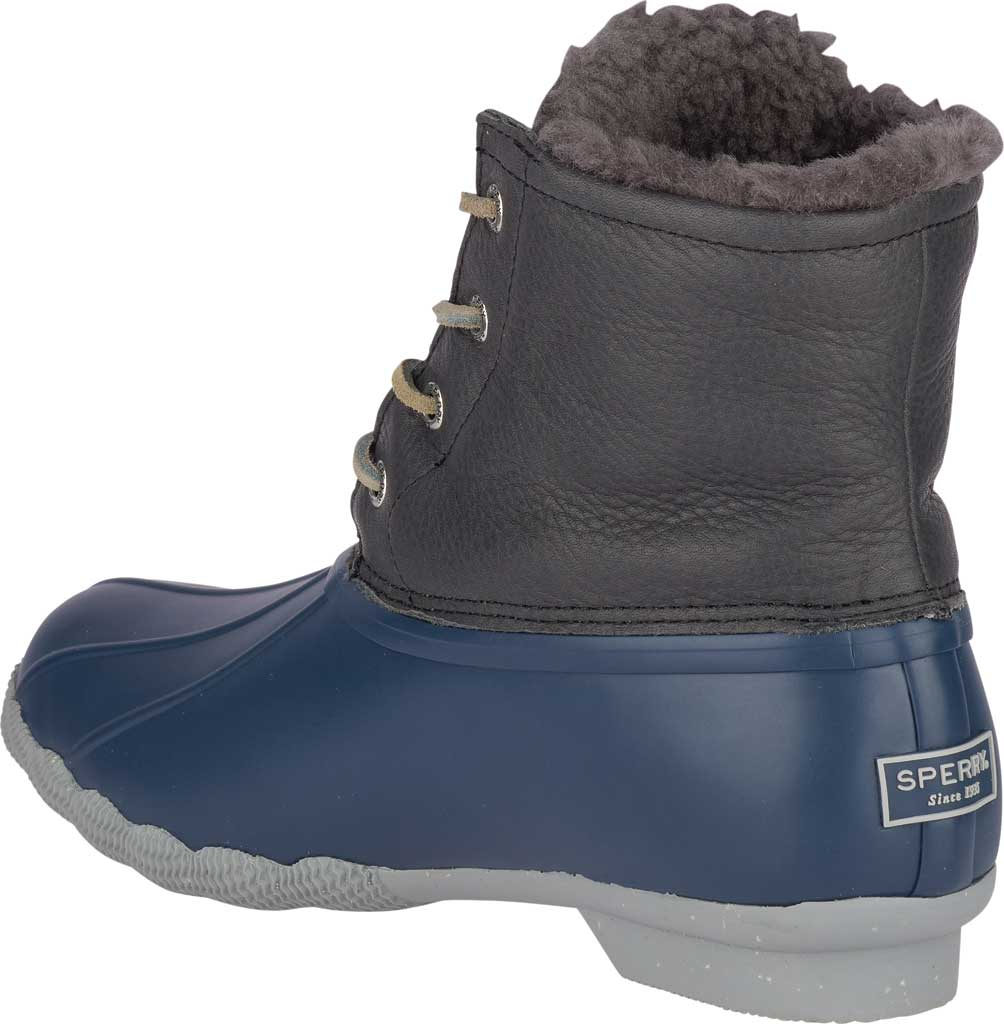 Women's Sperry Top-Sider Saltwater Winter Lux Boot, Grey/Navy Premium Leather/Rubber, large, image 4