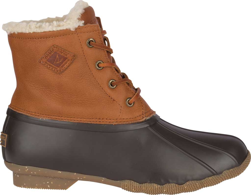 Women's Sperry Top-Sider Saltwater Winter Lux Boot, Tan Premium Leather/Rubber, large, image 2