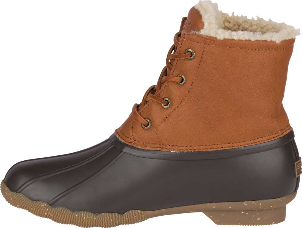 Women's Sperry Top-Sider Saltwater Winter Lux Boot, Tan Premium Leather/Rubber, large, image 3