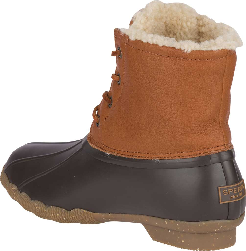Women's Sperry Top-Sider Saltwater Winter Lux Boot, Tan Premium Leather/Rubber, large, image 4