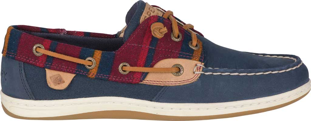 Women's Sperry Top-Sider Songfish Varsity Wool Boat Shoe, Navy Premium Leather, large, image 2