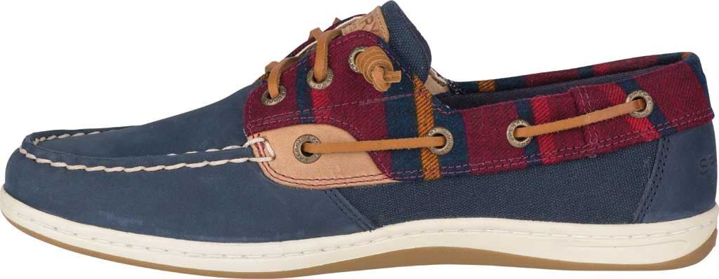 Women's Sperry Top-Sider Songfish Varsity Wool Boat Shoe, Navy Premium Leather, large, image 3