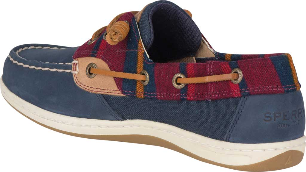 Women's Sperry Top-Sider Songfish Varsity Wool Boat Shoe, Navy Premium Leather, large, image 4