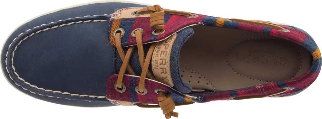 Women's Sperry Top-Sider Songfish Varsity Wool Boat Shoe, Navy Premium Leather, large, image 5