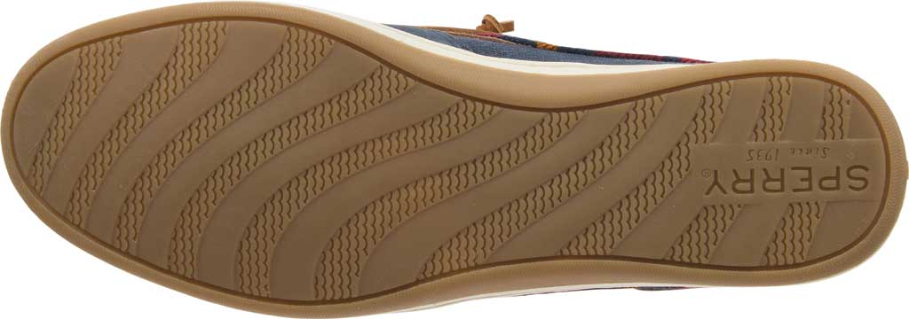 Women's Sperry Top-Sider Songfish Varsity Wool Boat Shoe, Navy Premium Leather, large, image 6