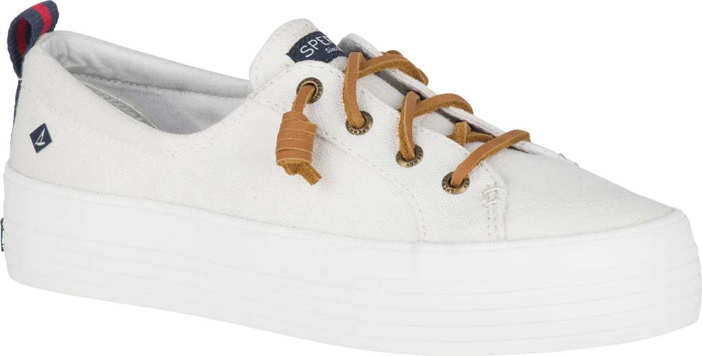 Women's Sperry Top-Sider Crest Vibe Platform Sneaker, White Canvas, large, image 1