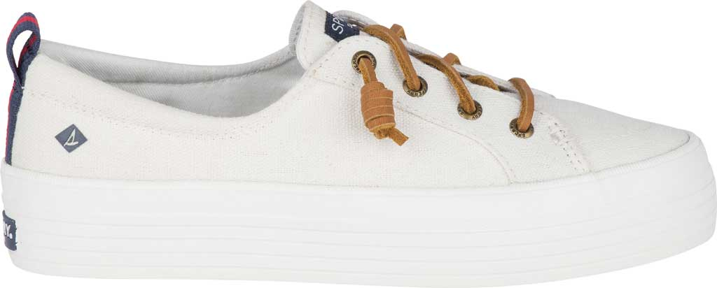 Women's Sperry Top-Sider Crest Vibe Platform Sneaker, White Canvas, large, image 2