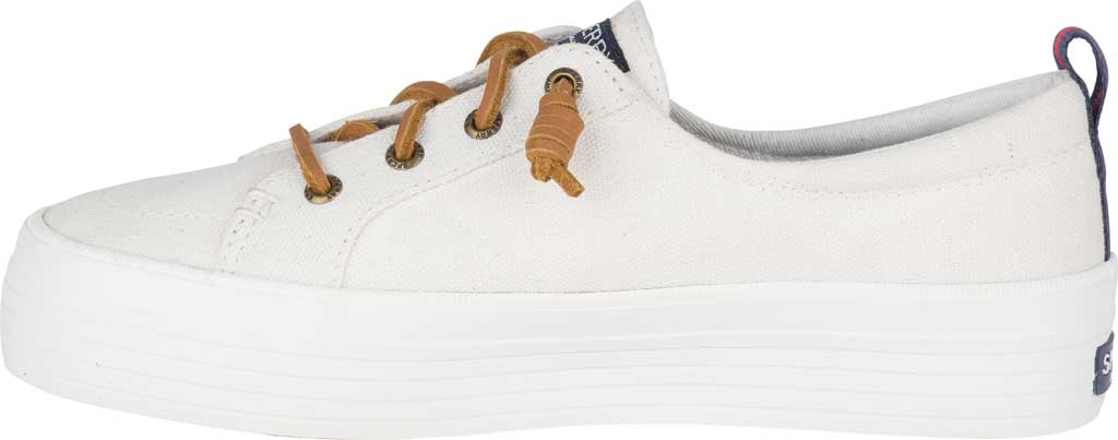 Women's Sperry Top-Sider Crest Vibe Platform Sneaker, White Canvas, large, image 3