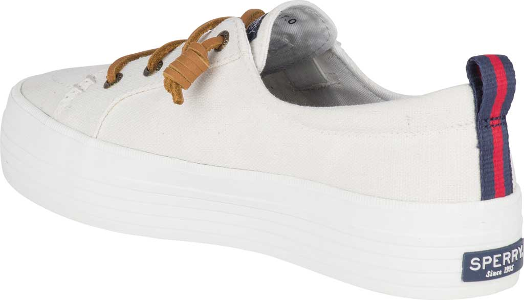 Women's Sperry Top-Sider Crest Vibe Platform Sneaker, White Canvas, large, image 4