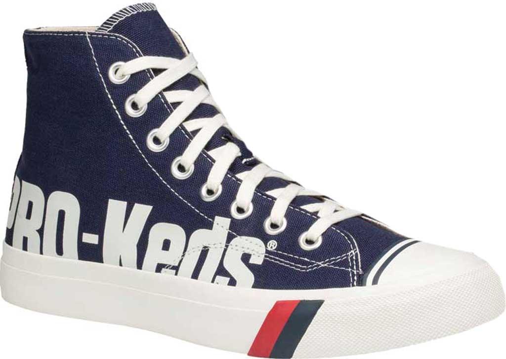 Men's Keds PRO-Keds Royal High Top Sneaker, Navy/White Canvas, large, image 1
