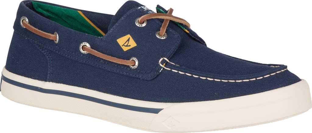 Men's Sperry Top-Sider Bahama II Varsity Boat Sneaker, Navy Textile, large, image 1